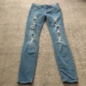 Pacsun light wash ripped jeans